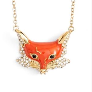 kate spade Into the Woods Fox Necklace